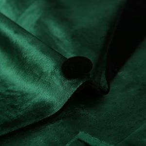 Image 3 - PYJTRL גברים של ירוק סגול ורוד כחול זהב אדום שחור קטיפה אופנה חליפת מעיל חתונה חתן שלב זינגר לנשף Slim fit טרייל
