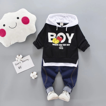Kid Clothes Sets Baby Boy Cotton Sports Hooded T Shirt Sweatshirt + Pants Children Boys Kids Casual Suits - discount item  49% OFF Children's Clothing