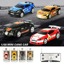 8 Colors 20KM/H Coke Can Mini RC Car Radio Remote Control Micro Racing Car 4 Frequencies Toy