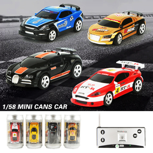 Image 2 - 8 Colors 20Km/h Coke Can Mini RC Car Radio Remote Control Micro Racing Car 4 Frequencies Toy For Kids Gifts RC Models Hot Sales