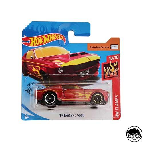 Hot Wheels '67 Shelby GT-500 HW Flames 33/250 2019 Short Card