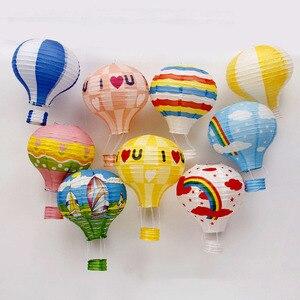 Image 3 - 22 цвета, 12/16 дюймов, бумажные фонарики для печати на воздушном шаре, свадебные украшения, праздничные украшения для бара, самодельные вечерние подвески