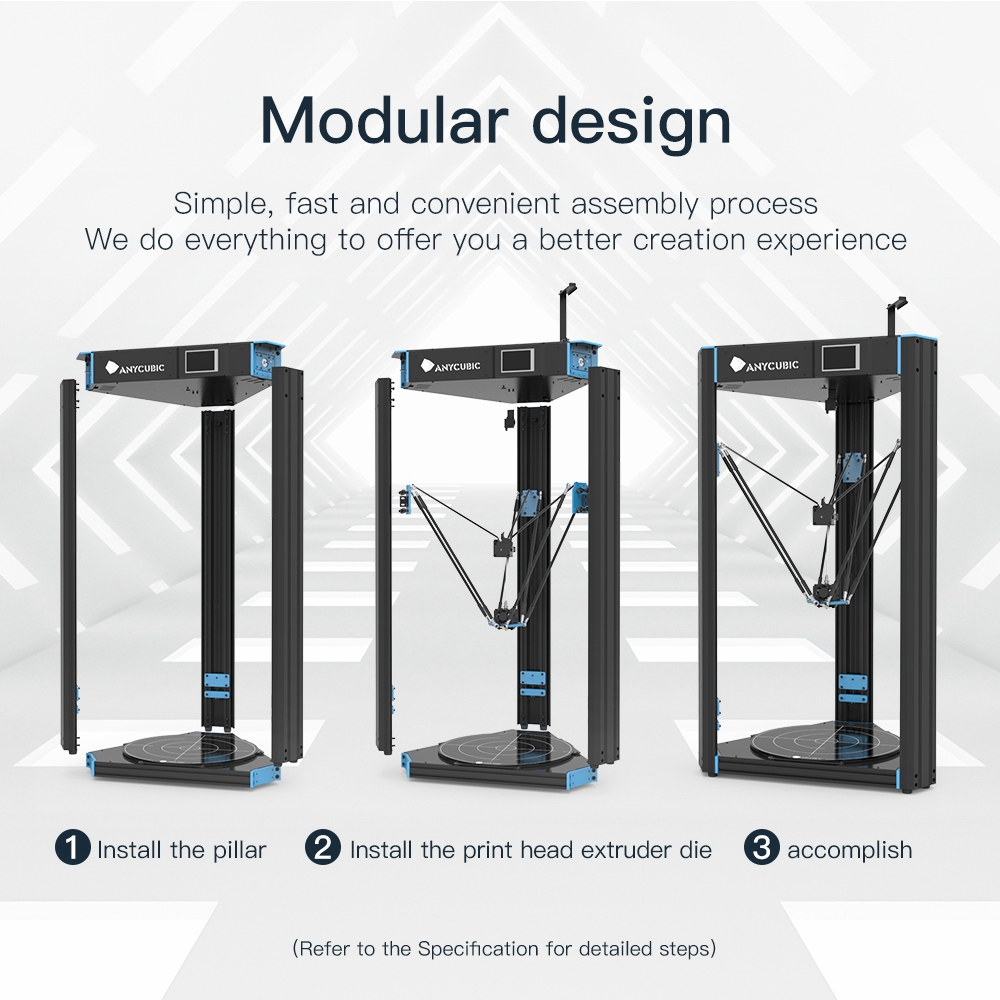 ANYCUBIC Predator Linear Plus 3d Printer With Ultrabase Extrude Large Build Volume Metal Frame FDM Diy 3D Printer Kit