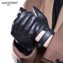 Printemps et été hommes importés en peau de mouton en cuir écran tactile gants de mode Sports de plein air conduite anti dérapant gants de cyclisme