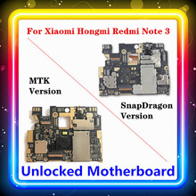 For Xiaomi Hongmi Redmi Note 3 Motherboard Replaced Motherboard With Chips Logic Board Android MTK / SnapDragon 16G 32G