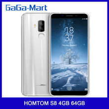 HOMTOM S8 Smartphone16.0MP + 13.0MP 5.7 cal szybkie ładowanie 4G FDD-LTE MTK6750T octa-core Android 7.0 4GB + 64GB 3400mAh telefon komórkowy