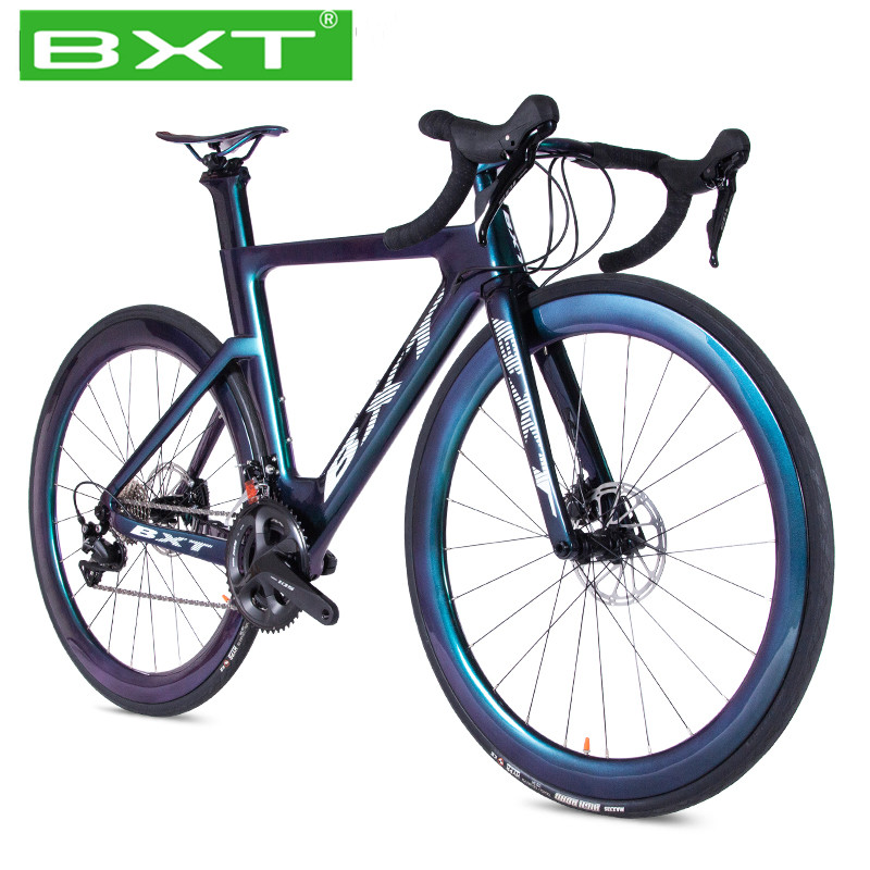 BXT Carbon Road Bike Bicicleta T800 Carbon Bike Road Bicycle 2*11Speed Racing Bicycle Full Carbon Frame Chameleon Road Bicycle