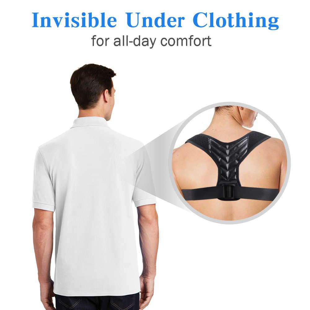 مصحح وضع الجسم مشد الترقوة العمود الفقري الموقف تصحيح الظهر حزام داعم للرجال والنساء