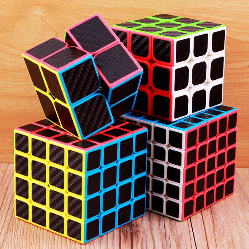 Moyu Carbon Fiber Cube 2x2x2 3x3x3 4x4x4 5x5x5 Magic Cube Puzzle Speed 2x2 3x3 4x4 5x5 Cubo Magico Cool Children Toys Kids Gifts