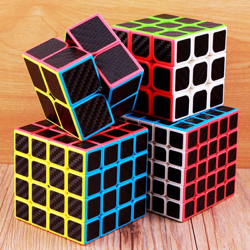 Moyu En Fiber De Carbone Cube 2x2x2 3x3x3 4x4x4 5x5x5 Cube Magique Puzzle Vitesse 2x2 3x3 4x4 5x5 cubo Magico Cool enfants jouets enfants cadeaux