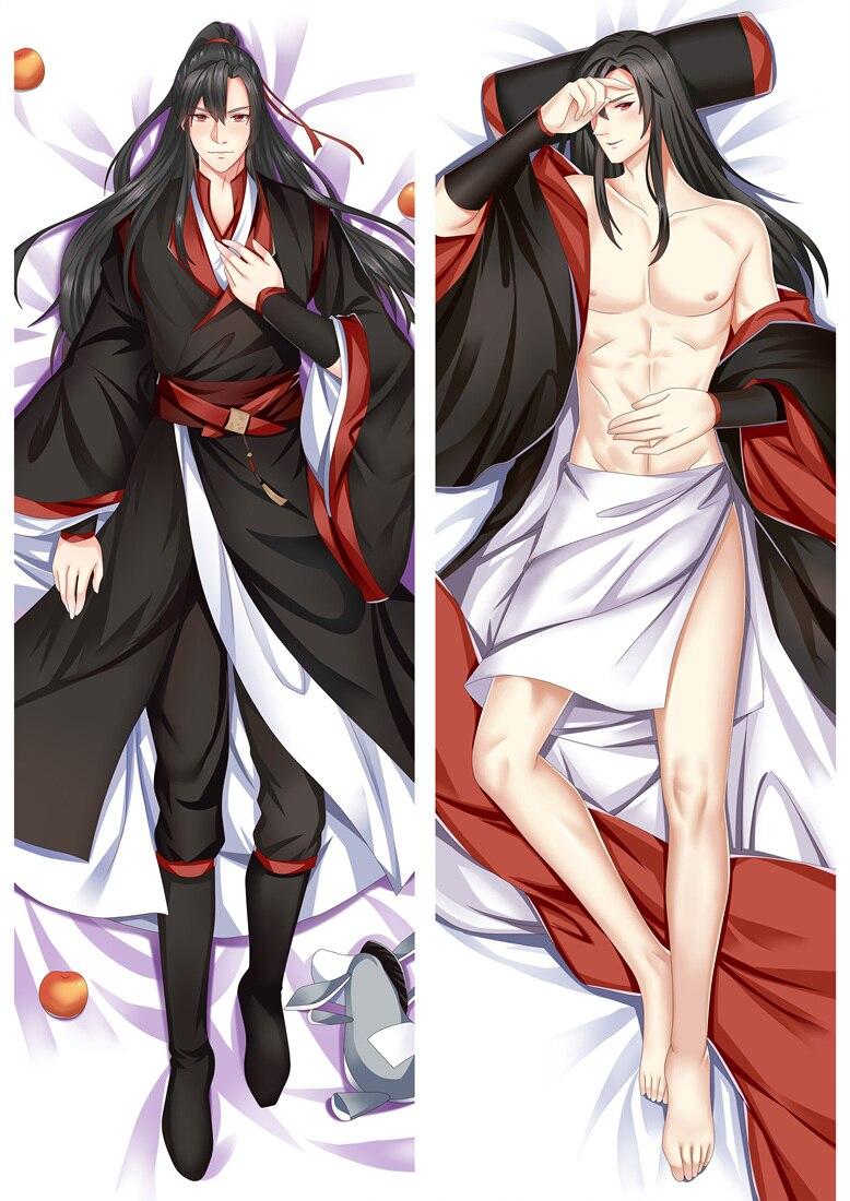 Anime Grandmaster Of Demonic Cultivation Dakimakura Cover Characters Wei Wuxian Lan Wangji MDZS Bolster Body Pillow Case