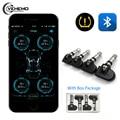 Система контроля давления в шинах TPMS, Bluetooth 4,0, дисплей с низким энергопотреблением для телефона, постоянный ток 3 В, с 4 внутренними датчиками...