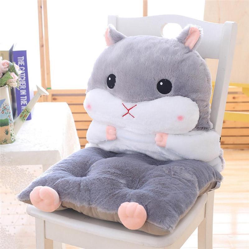 Cartoon Chair Cushion Lumbar Back Support Thicken Seat Pad Pillow For Beach Home Office Car Seat Chair Buttocks Pad
