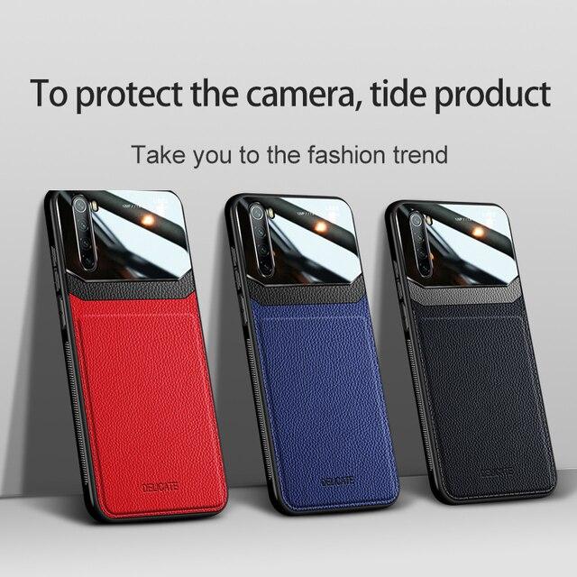 Funda para teléfono Xiaomi Redmi Note 8T de piel sintética de plexiglás y silicona a prueba de golpes, funda para teléfono Xiomi Redmi Note 8 Plus, funda trasera Note8