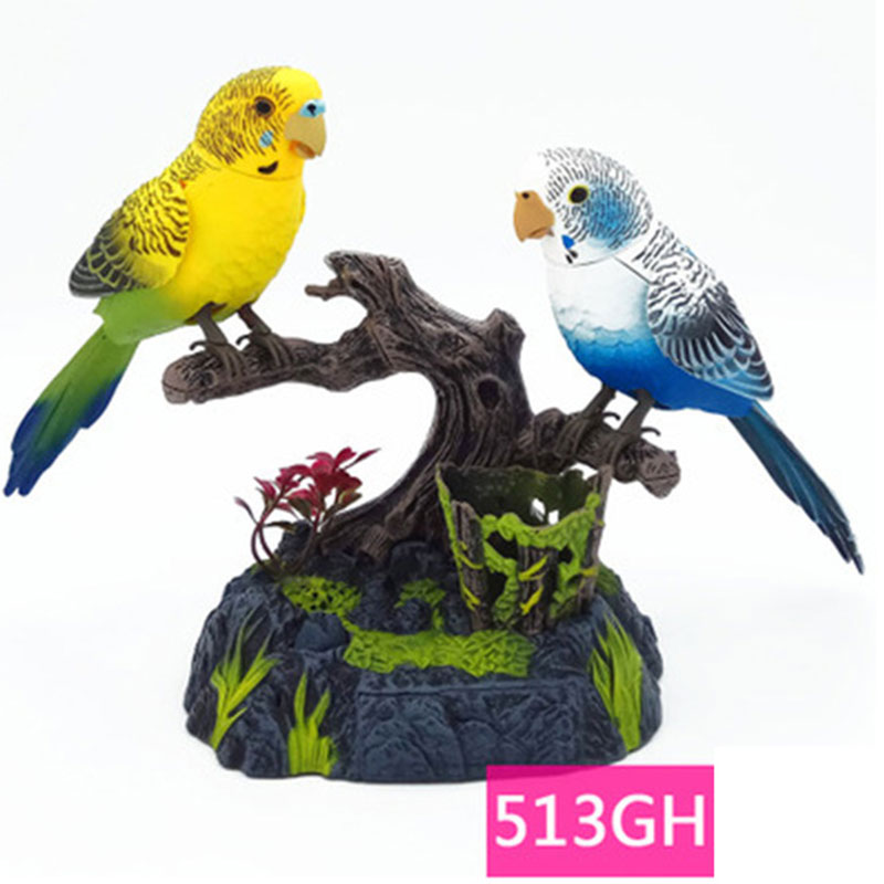 Talking Bird Family Pet Bird Toy Pet Bird Cage Children's Birthday Gift Electronic Voice Control Birthday Gift