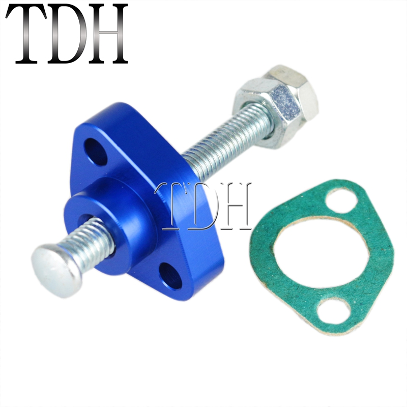 Blue Aluminum Motorcycle Manual Cam Timing Chain Tensioner For <font><b>HONDA</b></font> <font><b>CBR</b></font> 600F4/F4I 600F3 900RR 1100XX CB <font><b>600F</b></font> 900F image