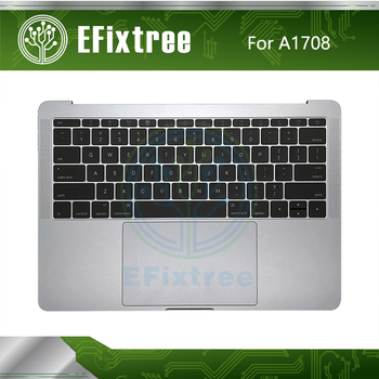 Grey Silver Topcase  C Case Housing Palmrest For Macbook Retina 13'' A1708 Top Case With Keyboard Battery Speaker 2016 2017 US