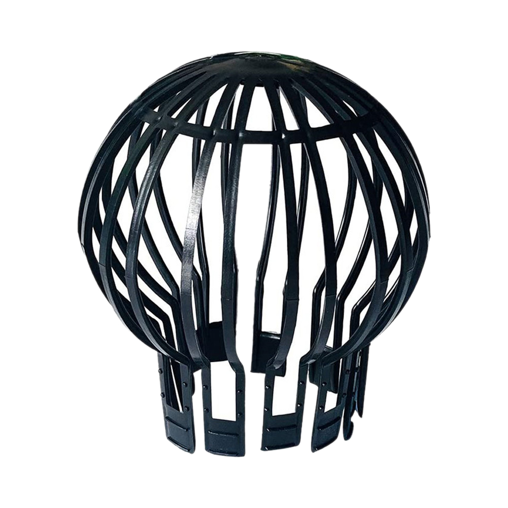 Intellective Black Roof Drain Downpipe Debris Garden Filter Leaves Protection Home Anti-blocking Pp Strainer Gutter Guard Outdoor Fashionable Patterns