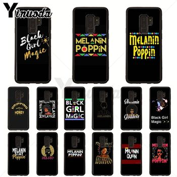 2bunz Melanin Poppin Aba Black Soft silicone Phone Case For samsung galaxy s20 ultra s9 s8 s10plus s7 s6 edge plus s5 s10e Cover image
