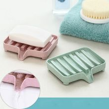 Wheat Straw Drain Soap Box Racks Creative Bathroom Dish Tray Home Storage Accessories