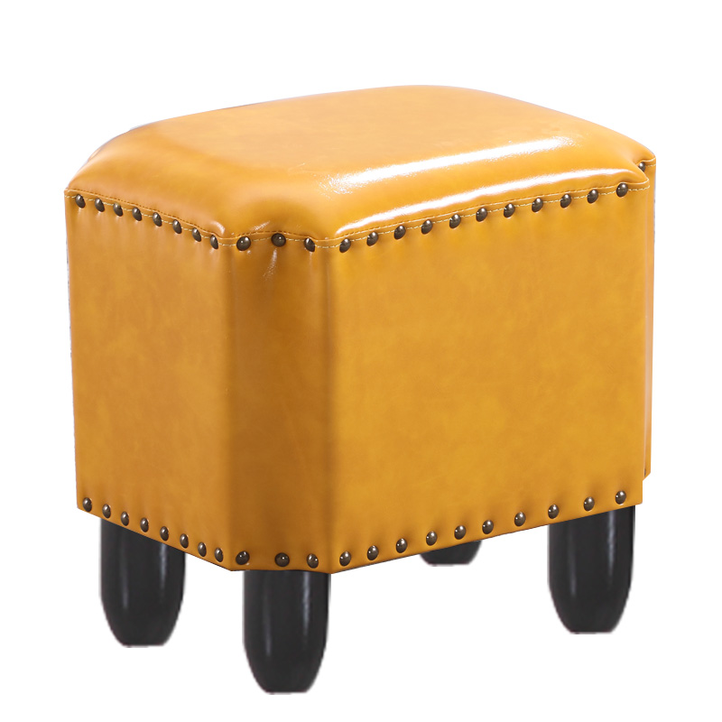 American Leather Stool Home Stool Living Room Sofa Bench Fitting Room Stool Fashion Creative Shoes Bench