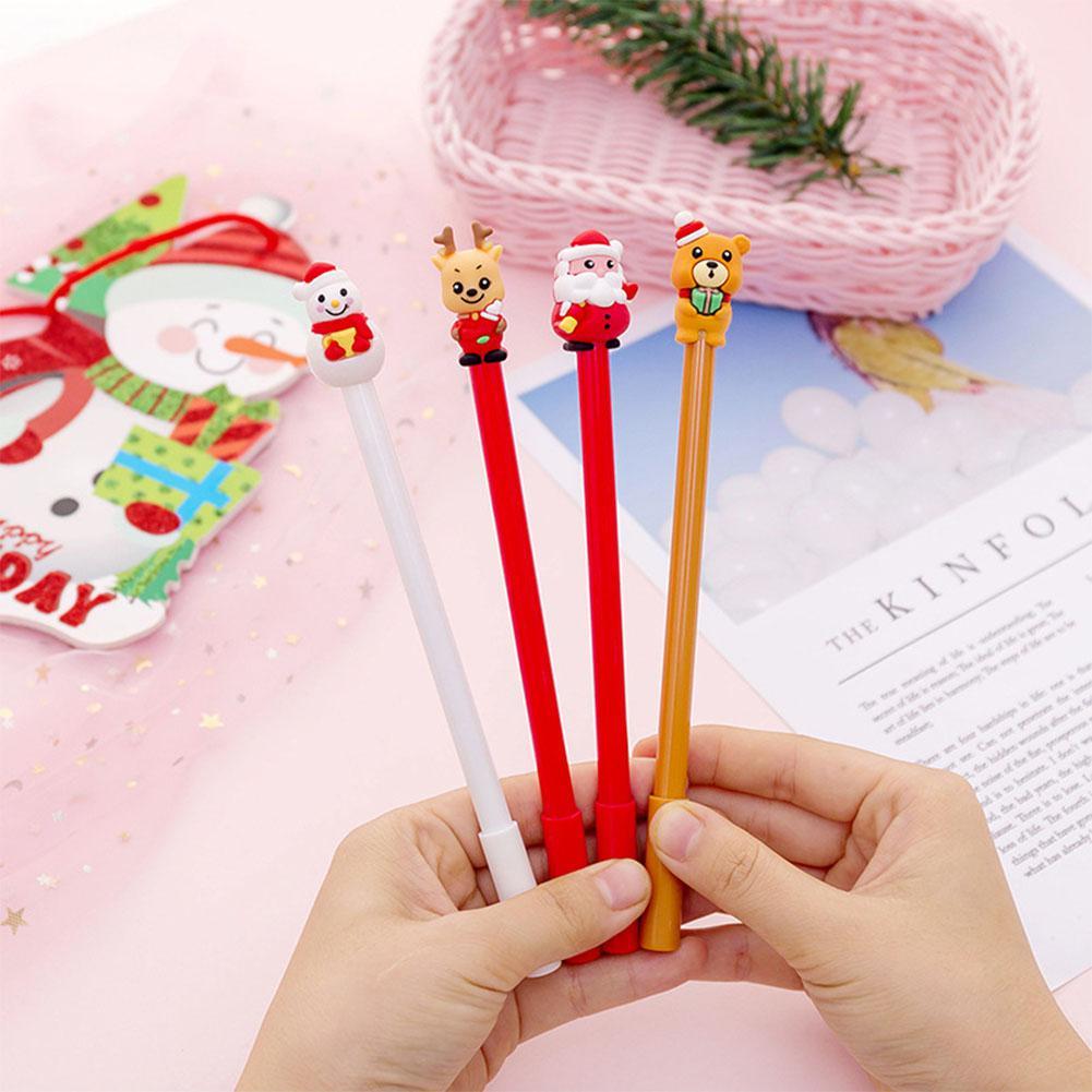 Christmas Black Gel Pen Cute Cartoon Santa Clause Snowman Deer Bear Neutral Pen