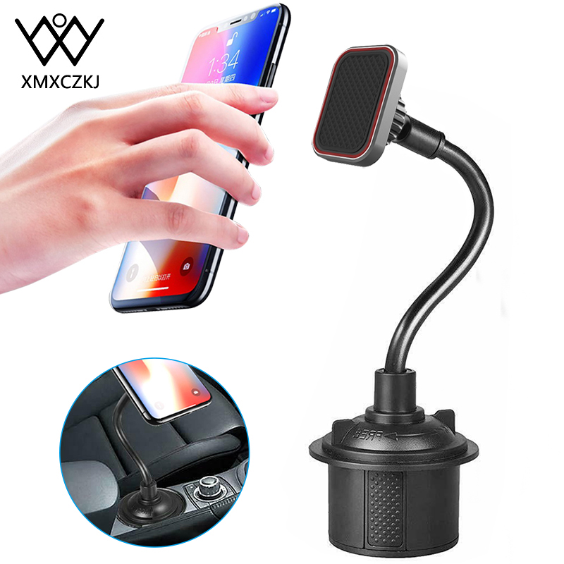 Adjustable Gooseneck Cup Phone Holder Magnetic Car Cup Holder Phone Mount Long Arm Phone Cup Holder For Xiaomi Redmi Note 7 GPS