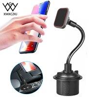 Gooseneck ajustável copo titular do telefone magnético suporte de copo do carro telefone montagem braço longo suporte copo do telefone para xiaomi redmi nota 7 gps