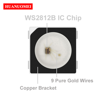 WS2811 WS2812B LED 5050 SMD RGB with embedded WS2811 IC;5V,0.3W,60mA,1000pcs/bag;SOP-4 new version,with only 4pin,black frame