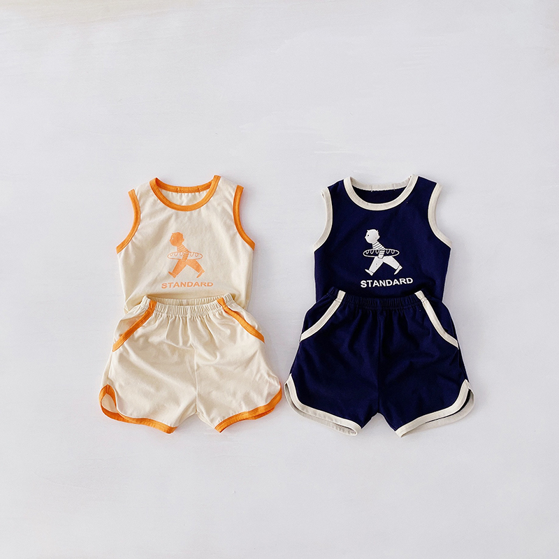 MILANCEL Baby Boy Summer Clothes Baby Gilrs Outfit  Cotton Baby Suit Cartton Print Toddler Girls Set