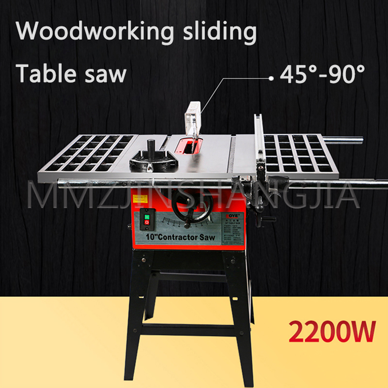 380V Large Woodworking Table Saw Desktop Push Saw Sawing Machine Multifunction Open Material Decoration Electric Cutting Machine