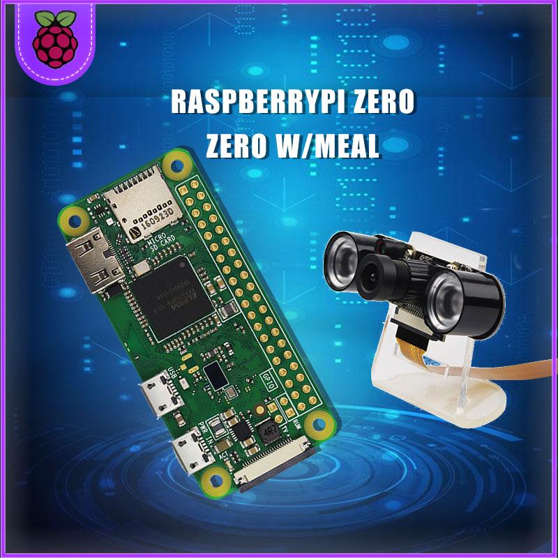 Raspberry Pi Zero/Zero W Kit + Acrylic Case + 5MP Camera +RJ45 Network Card + 32GB SD Card + Heat Sink+HDMI+Power