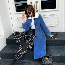 adohon 2019 Women Coat Casual outerwear winter clothing Ladies fashion warm woolen Long Jackets female elegant Double Breasted все цены