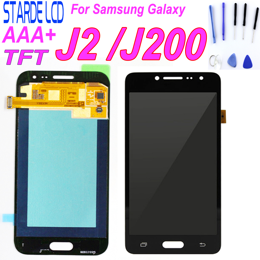 Für samsung Galaxy J2 2015 <font><b>J200F</b></font> J200M J200H J200Y <font><b>LCD</b></font> Display Digitizer Touch Screen Für samsung j2 j200 <font><b>LCD</b></font> Teile image