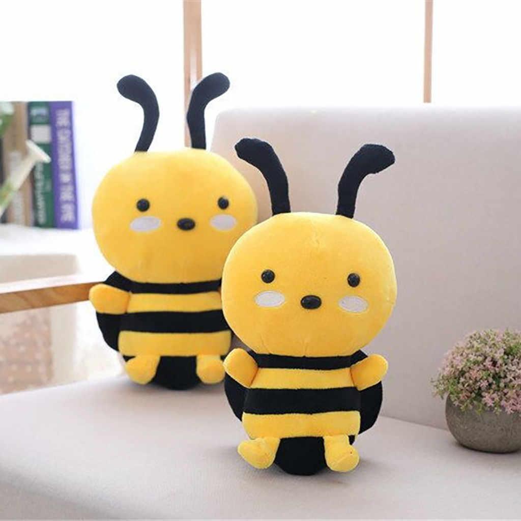 Nowy śliczne Kawaii mała pszczoła zabawki pluszowe walentynki prezent nadziewane zwierząt dziecko dzieci lalki poduszki zabawki 20Cm zabawki dla dzieci