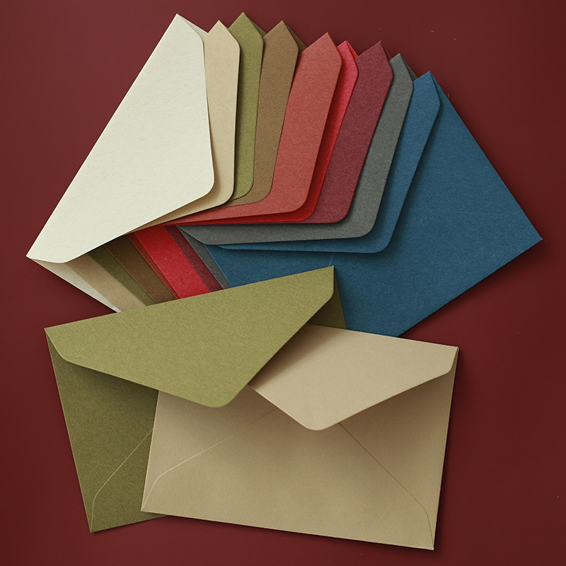 New 50pcs/lot Vintage Western Envelopes Blank Paper Wallet Envelopes For Wedding Invitation, Photo Storage 119mm X162mm