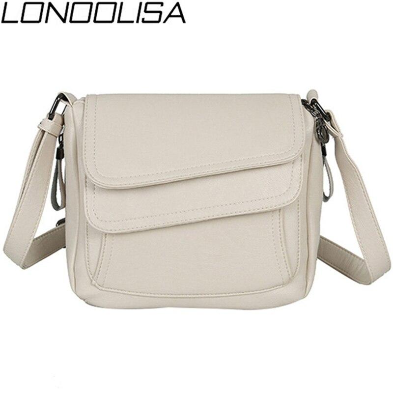 Ladies White Shoulder Bag Crossbody Bags For Women 2020 Soft Genuine Leather Luxury Handbags Women Bags Designer Sac A Main