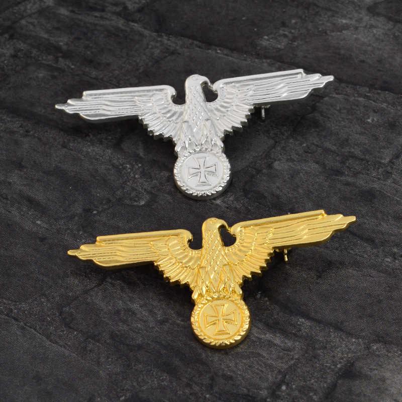 Vintage Đại Bàng Chân Cắm Kim Loại Tùy Chỉnh Thế Chiến Quân Sự Đức Chéo Đại Bàng Trâm Cài Áo Sơ Mi Túi Lapel Pin Huy Hiệu Động Vật Trang Sức Tặng Collectio
