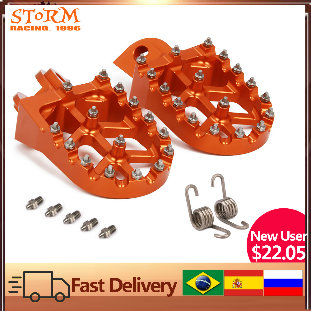 Foot Pegs FootRest Footpegs Rests Pedals For KTM SX SXF EXC EXCF XC XCF XCW XCFW 65 85 125 150 200 250 300 350  1290 ADVENTURE|foot pegs|foot pegs footrest|footrests foot pegs - title=