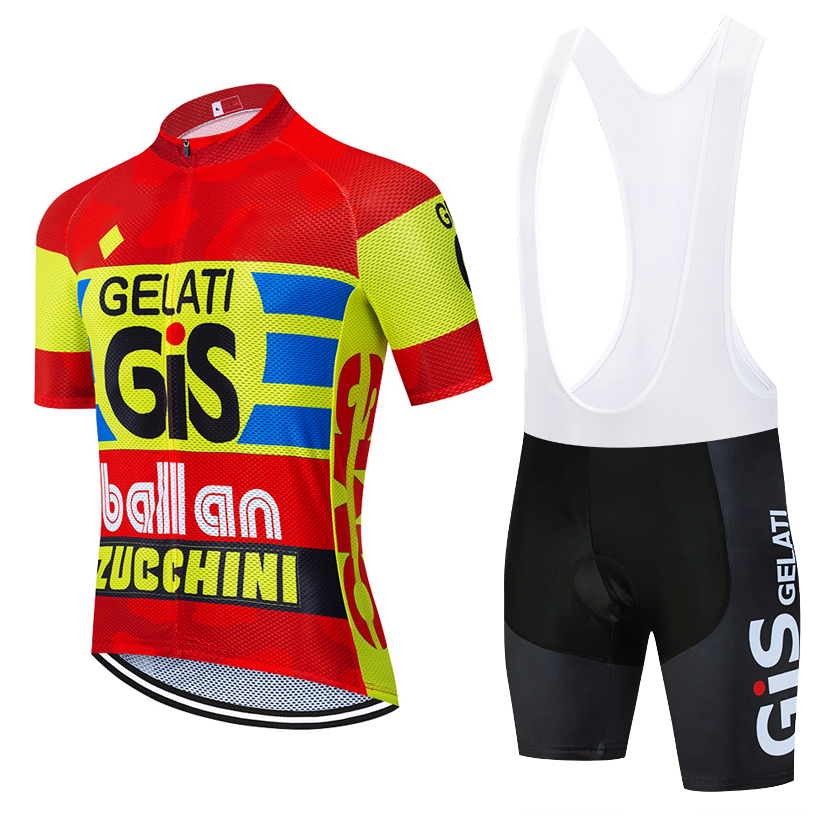 New 2020 TEAM GIS Cycling  Jersey 20D Bike Shorts Set Mtb Ropa Mens Summer Quick Dry Pro BICYCLING Shirts Maillot Culotte Wear