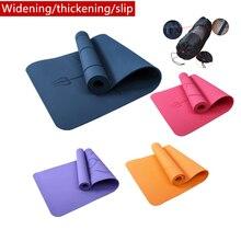 1830*800*6mm tpe esteira da ioga com linha de posição tapete antiderrapante, para iniciante esteiras ambientais da ginástica da aptidão
