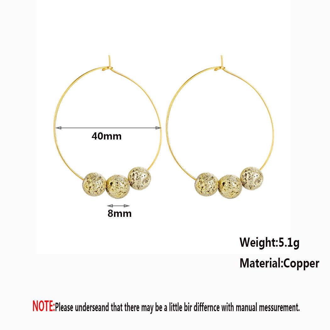 Aro grande rrrrings oro redondo cuentas círculo para mujeres moda declaración joyería India accesorios regalo
