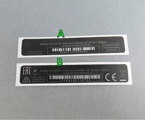 Image 2 - OCGAME 10 sztuk/partia OEM dla kontrolera PS4 obudowa Shell Slim czarny powrót naklejki etykiety uszczelki