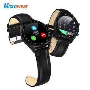 Image 3 - Microfones relógio inteligente l7 pressão arterial/bluetooth/gps/monitor de sono relógio inteligente fitness men women