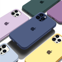 Official Silicone With LOGO Case For iphone 7 8 6S Plus 11 12 Pro X XS MAX XR phone Case For iphone 12mini 6 7 8 plus X case