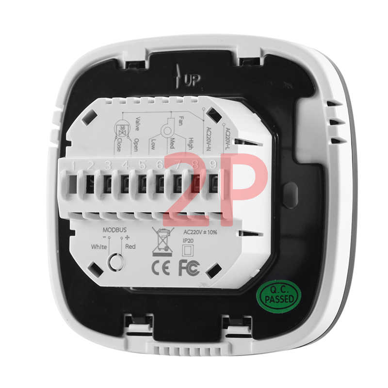 Tuya Centrale Airconditioning Wifi Touch Screen Kamerthermostaat Voor Fan Coil Warmte Cool Temp Temperatuur Control Unit