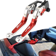 For Yamaha TMAX500 2008 2009-2011 T-MAX530 2012-2017 CNC Motorcycle Brake Clutch Levers Adjustable Racing Accessories