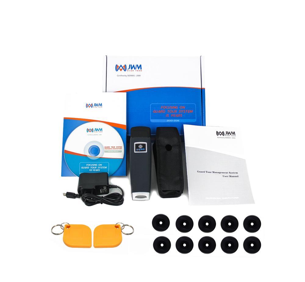 JWM Best Seller  Waterproof IP67 Durable RFID Guard Tour Patrol System With 10 RFID Tags