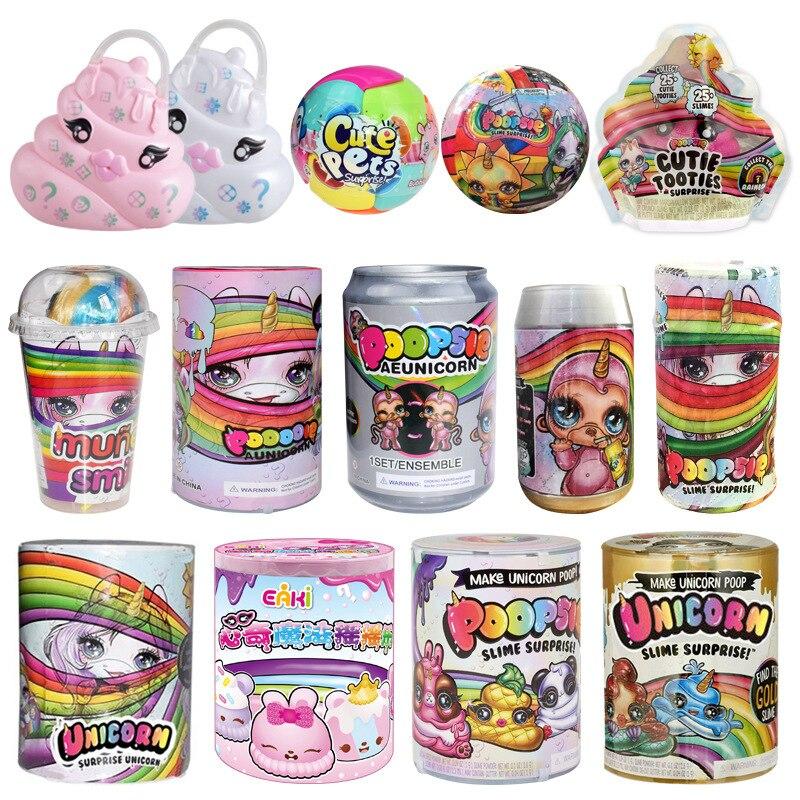 Slime Eenhoorn Bal Lols Poppen Kak Meisjes Speelgoed Hobby Accessoires Regenboog Heldere Ster Lols Dolls Kids Funny Toy