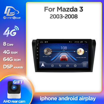 Prelingcar Android 10 For Mazda 3 2003 2014 2009 bk Car Radio Multimedia Video Player GPS Navigation NO DVD 2 Din Octa-Core DSP image